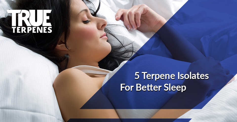 Woman sleeping soundly after using terpenes for better sleep